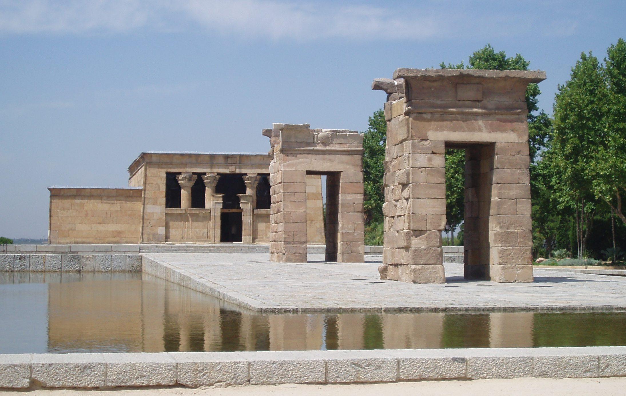 El Templo de Debod en su ubicación actual.