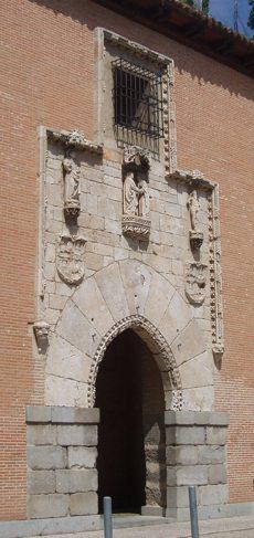 Portada del Hospital de La Latina, trasladada a la Escuela Superior de Arquitectura de Madrid.